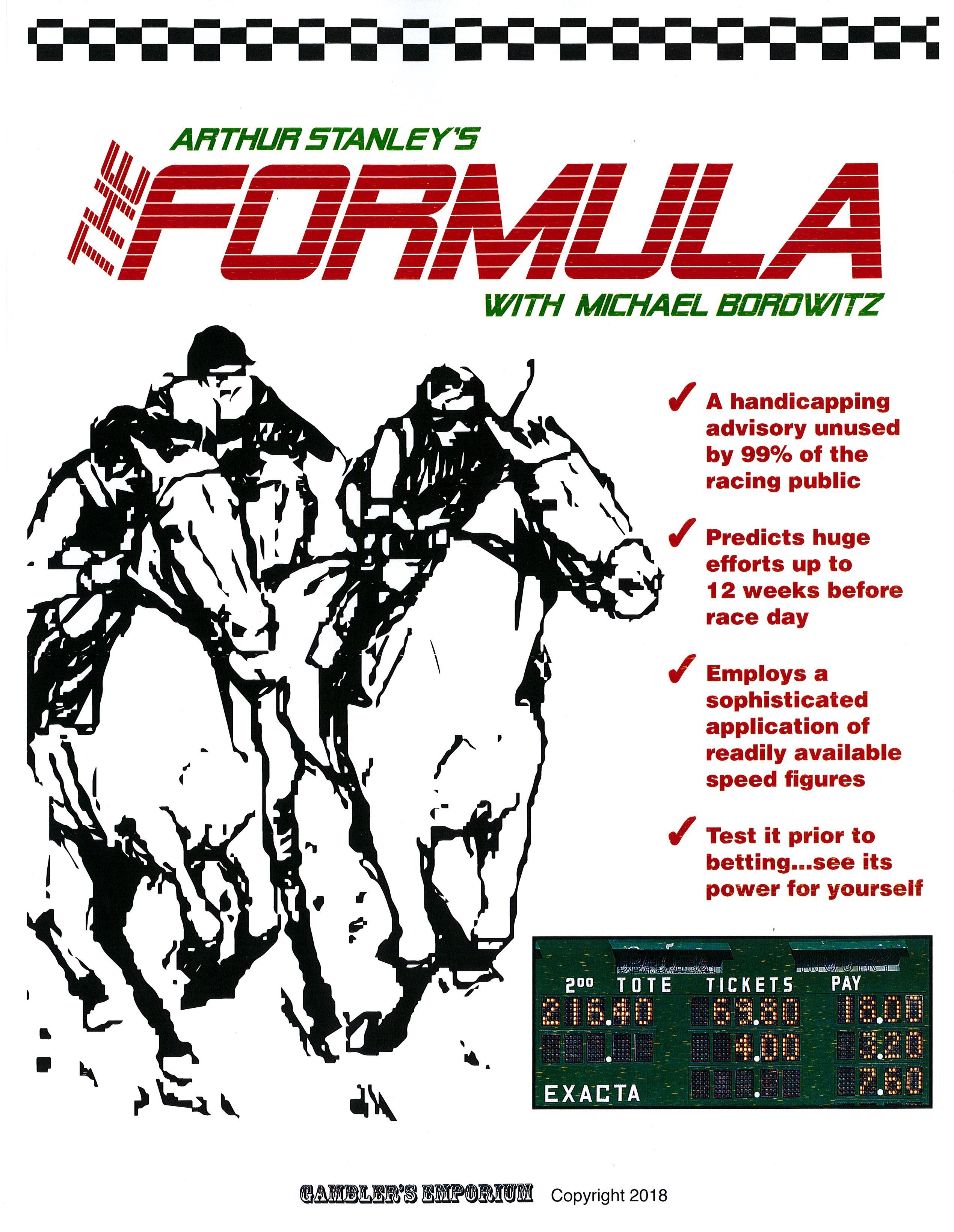 Horse betting formula binary options robot mt4155sps